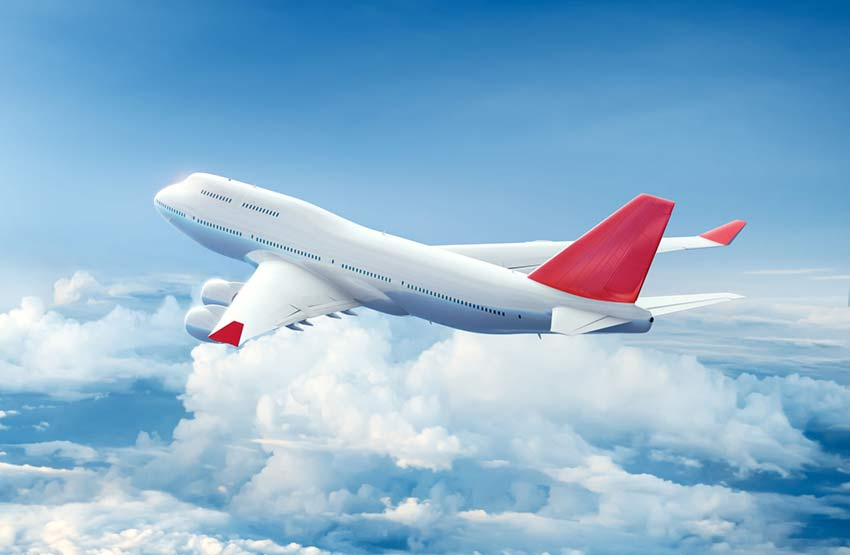 Airplane in flight.